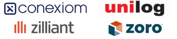 sponsor logos: Zilliant, Conexiom, unilog and zoro.com